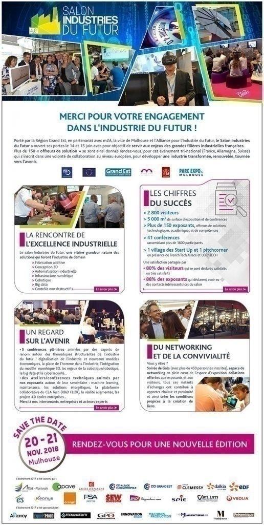 Agenda l 39 industrie 4 0 la surveillance des actualit s for Salon industrie du futur